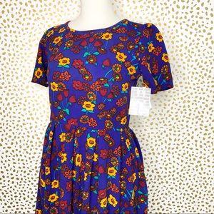 LulaRoe Amelia Floral Print Dress NWT